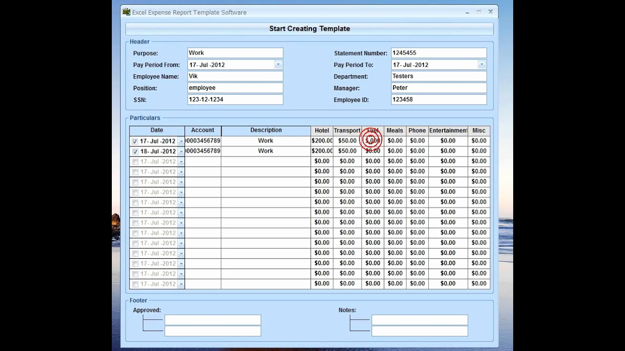 Expenses Report Template Excel Luxury Excel Expense Report Template software