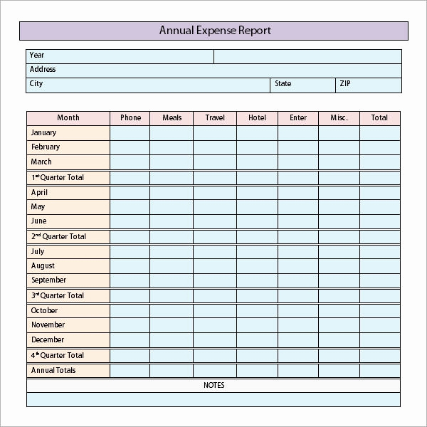 Expenses Report Template Excel Luxury Expense Report Templates 8 Download Free Documents In