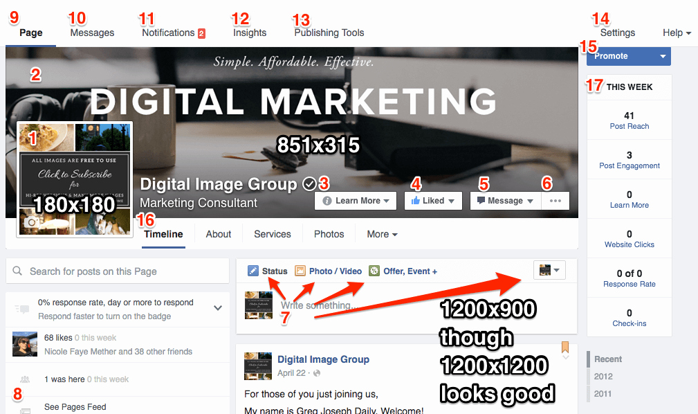 Facebook Business Page Template Beautiful Business Page Template with Checklist Digital