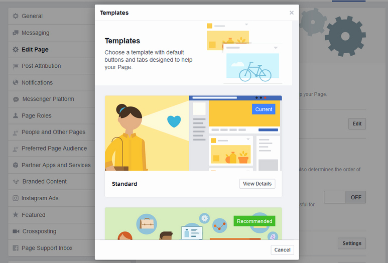 Facebook Business Page Template Best Of How to Change Your Page Template