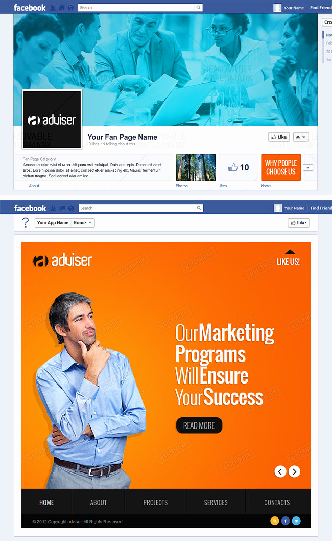 Facebook Business Page Template Inspirational Fan Fbml Templates Deal Mightydeals