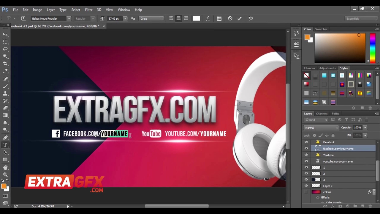 Facebook Cover Photo Template Psd Beautiful Free Cover 3d Text Template Psd │ Extragfx
