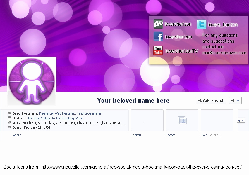 Facebook Cover Photo Template Psd Lovely Timeline Cover Xcf Pdn Psd Template by