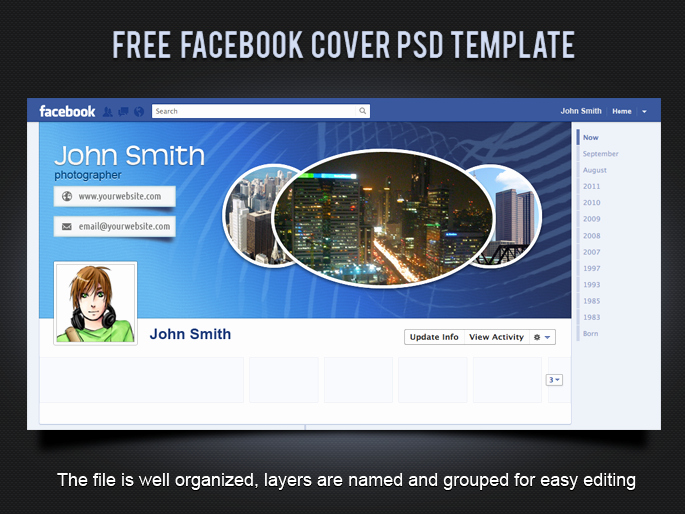 Facebook Cover Photo Template Psd Unique 19 Splendorous Timeline Covers Psd Templates
