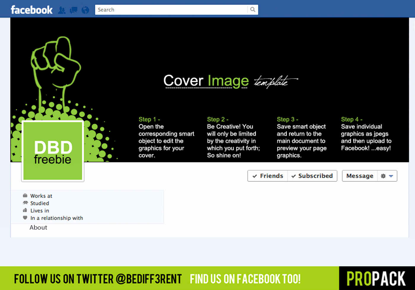 Facebook Cover Template Psd Awesome Dbd