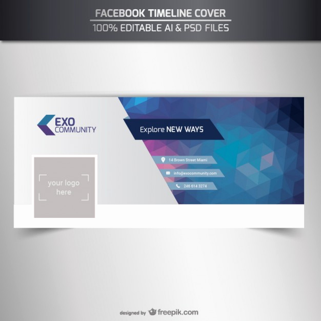 Facebook Cover Template Psd Beautiful Editable Timeline Cover Template Vector