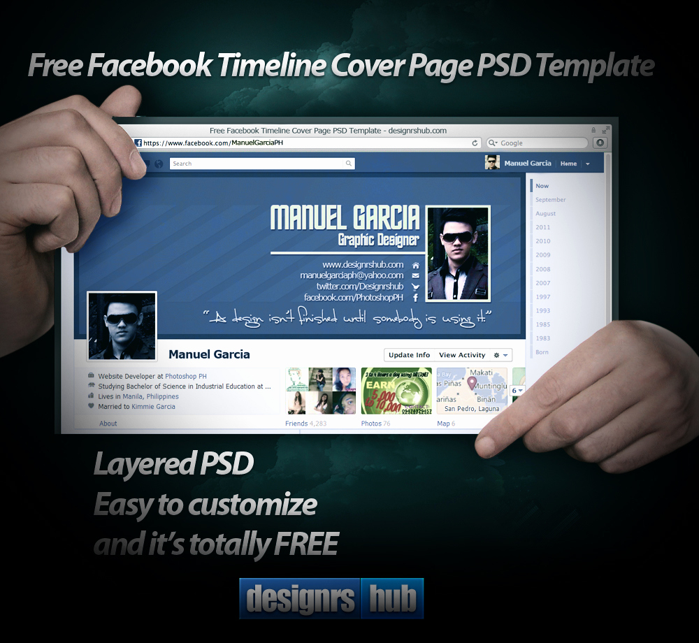 Facebook Cover Template Psd Inspirational Free Timeline Cover Page Psd Template by