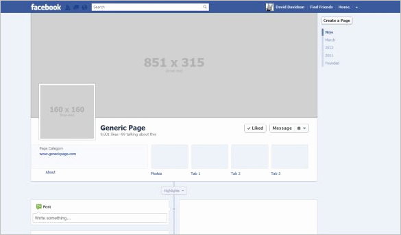 Facebook Cover Template Psd New 14 Banner Size Templates