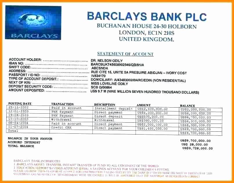 Fake Bank Statement Generator Unique Fake Bank Statement