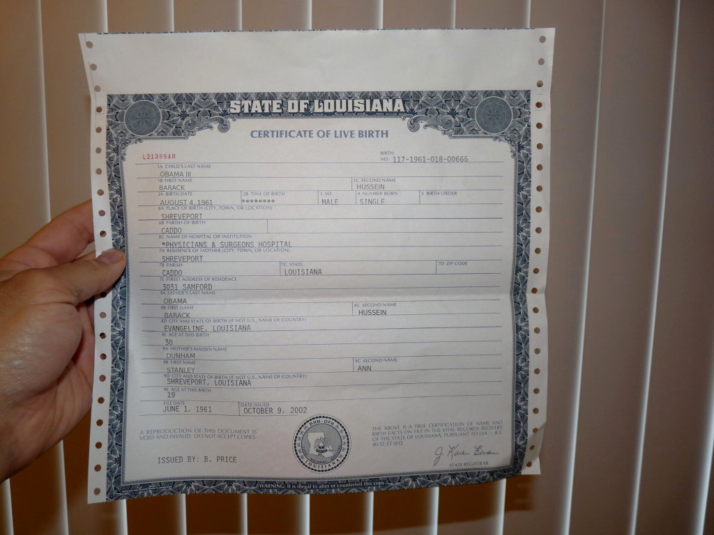 Fake Birth Certificate Maker Awesome Proof that Obama's Hawaii Birth Certificate is Fake