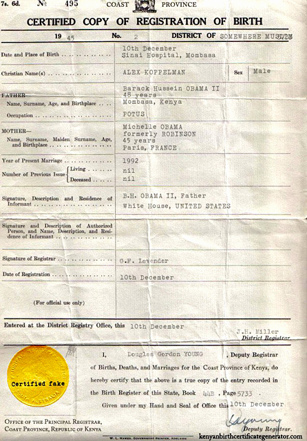 Fake Birth Certificate Maker New You too Can Have Your Own Kenyan Birth Certificate