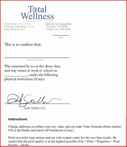 Fake Doctors Note Pdf Awesome Free Fake Doctors Note Template Download Will Verizon