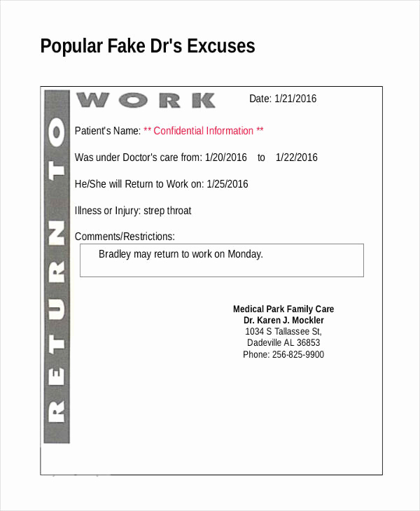 Fake Doctors Note Pdf Best Of 14 Doctor Note Templates