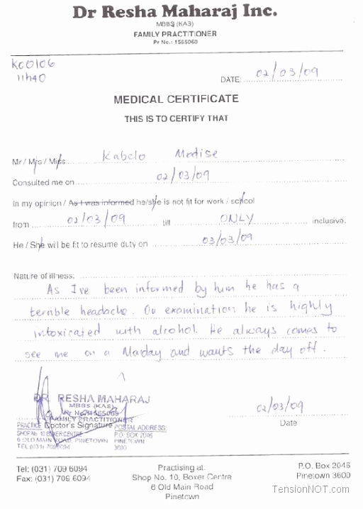 Fake Doctors Note Pdf Fresh Fake Doctors Note Template Free Doctor Excuse Pdf Sick