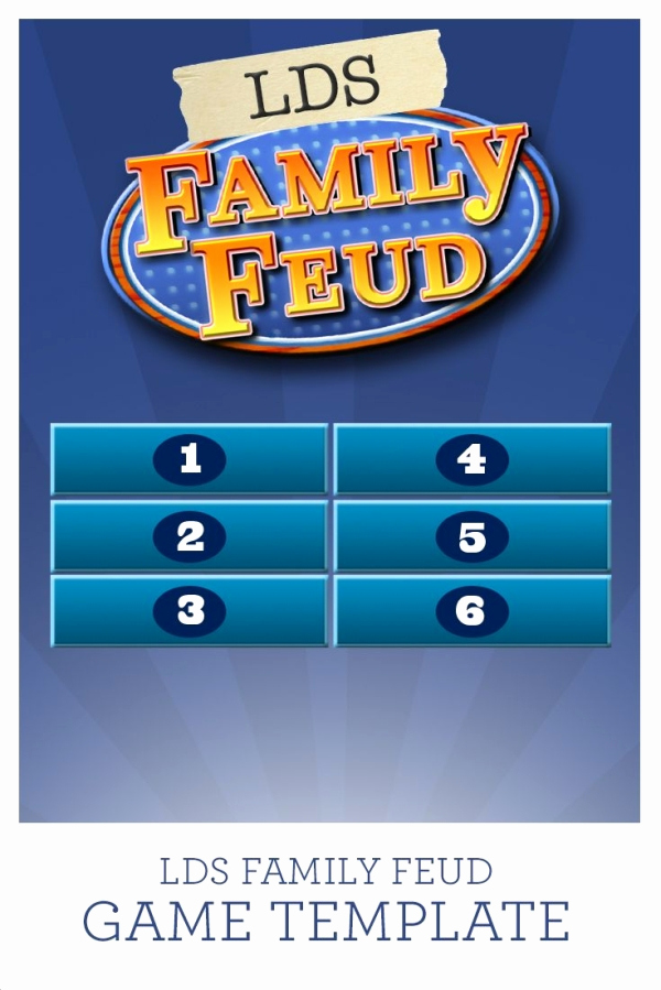 Family Feud Powerpoint Template Awesome Use This Lds Family Feud Game Template with 38 Questions
