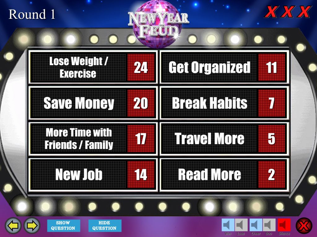 Family Feud Powerpoint Template Beautiful New Year S Eve Party Family Feud Trivia Powerpoint Game