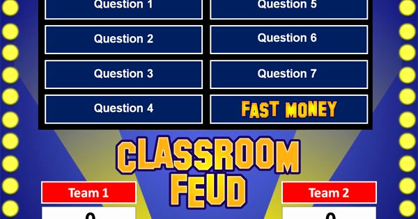 Family Feud Powerpoint Template Luxury Family Feud Powerpoint Game Template School