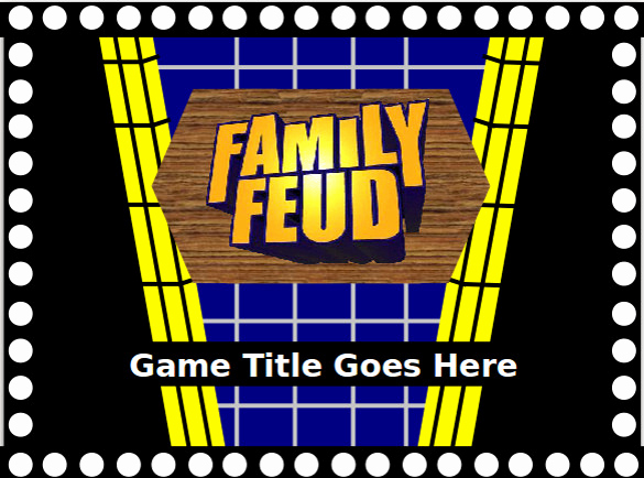 Family Feud Powerpoint Template New Family Feud Game Powerpoint Template