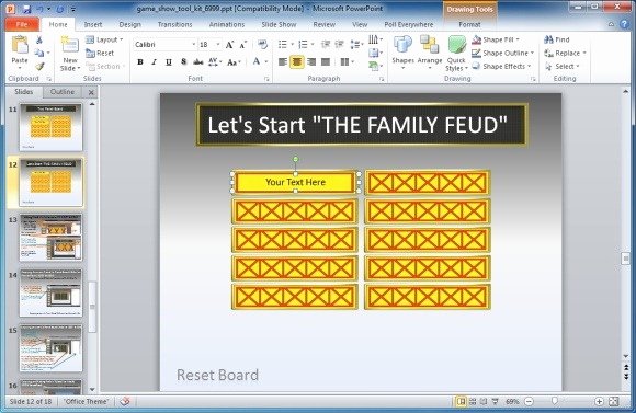 Family Feud Powerpoint Template New Family Feud Powerpoint Template