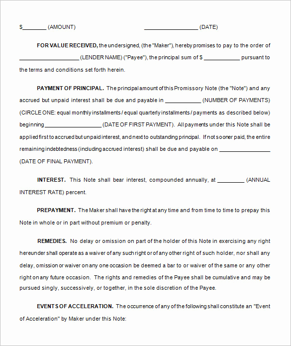 Family Loan Agreement Template Beautiful Loan Contract Template – 20 Free Word Pdf Documents