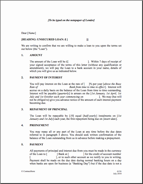 Family Loan Agreement Template Fresh Free Printable Personal Loan Agreement form Generic