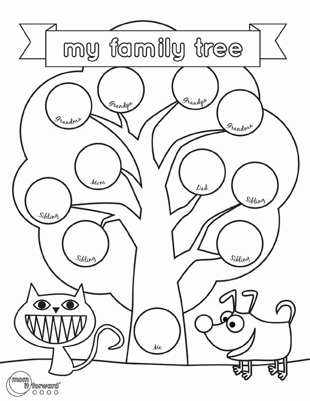 Family Tree Template Google Docs Lovely My Family Tree Printable Volunteer