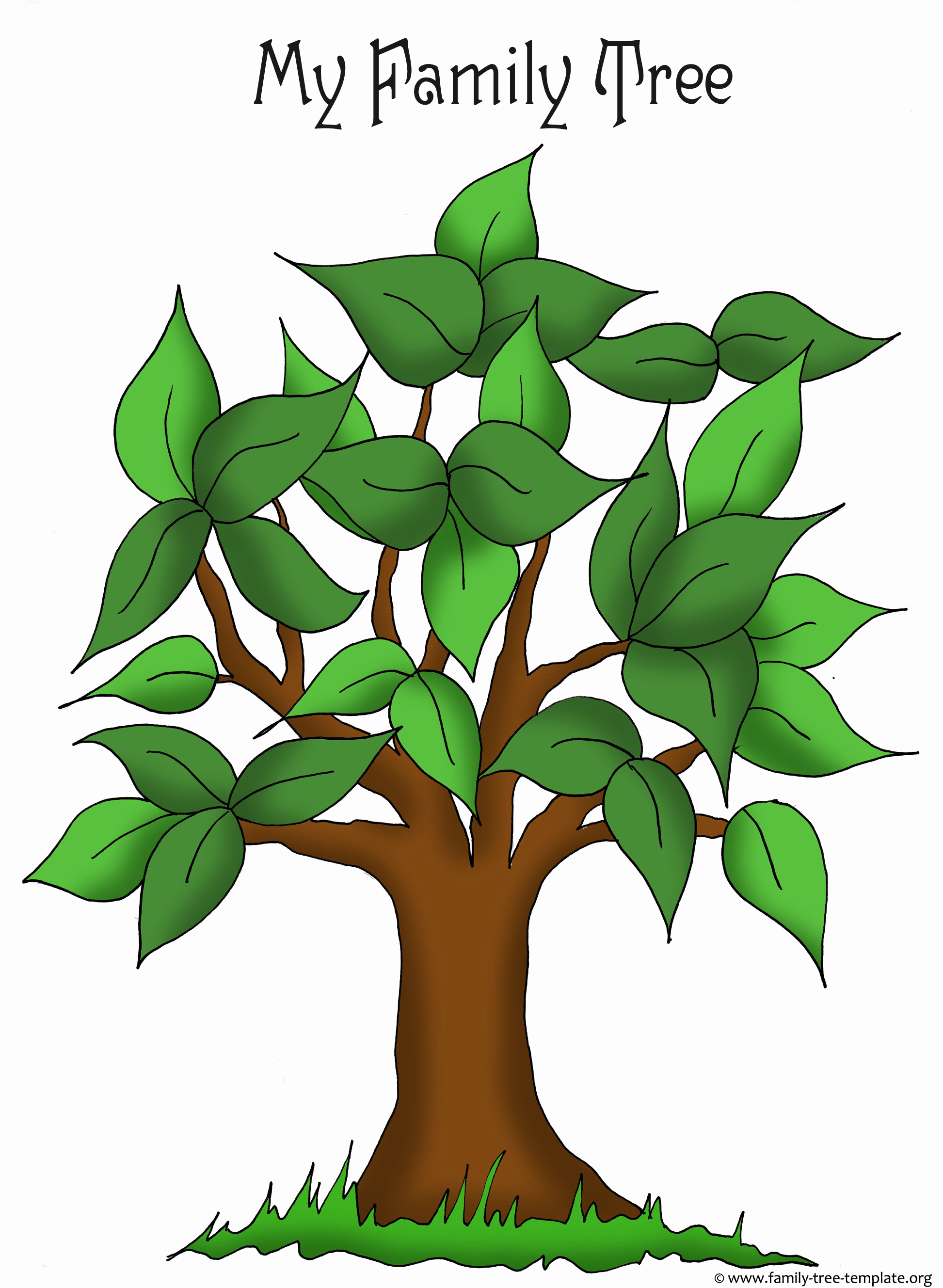 Family Tree Template Online Awesome Family Tree Templates & Genealogy Clipart for Your