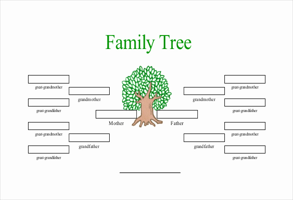 Family Tree Template Online Fresh Simple Family Tree Template 25 Free Word Excel Pdf