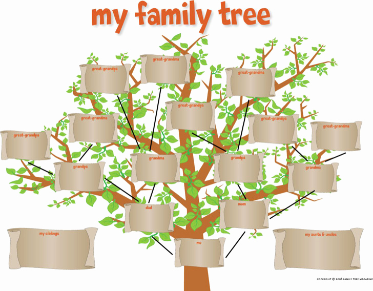 Family Tree Template with Siblings Awesome 34 Family Tree Templates Free Download