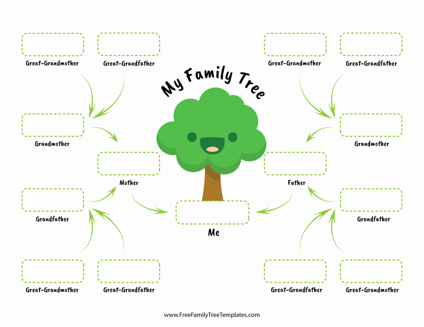 Family Tree Template with Siblings Inspirational Family Tree for Children – Free Family Tree Templates