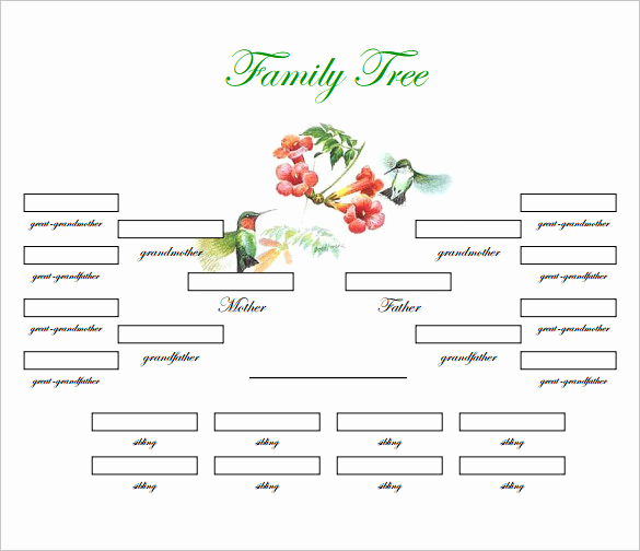 Family Tree Template with Siblings New Family Tree Template 31 Free Printable Word Excel Pdf