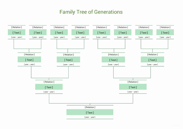 Family Tree Templates Excel Lovely Simple Family Tree Template 27 Free Word Excel Pdf