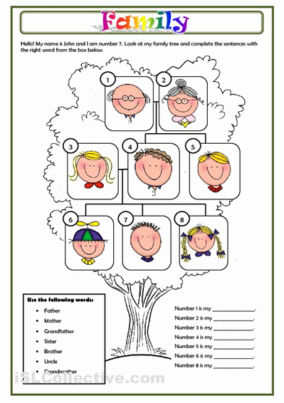 Family Tree Worksheet Printable Best Of Family Worksheet Free Esl Printable Worksheets Made by