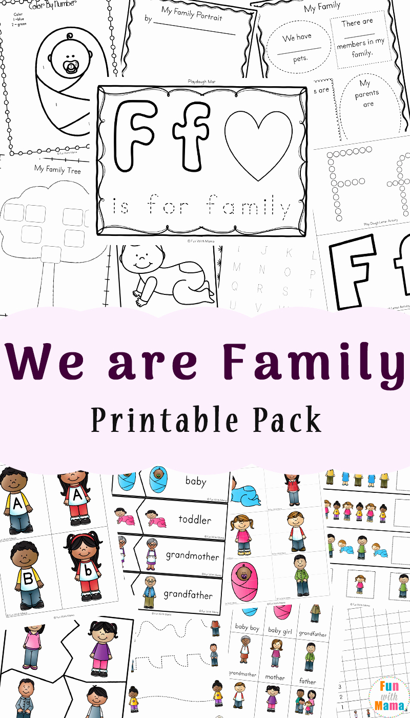 Family Tree Worksheet Printable Lovely Family theme Preschool and Family Worksheets for