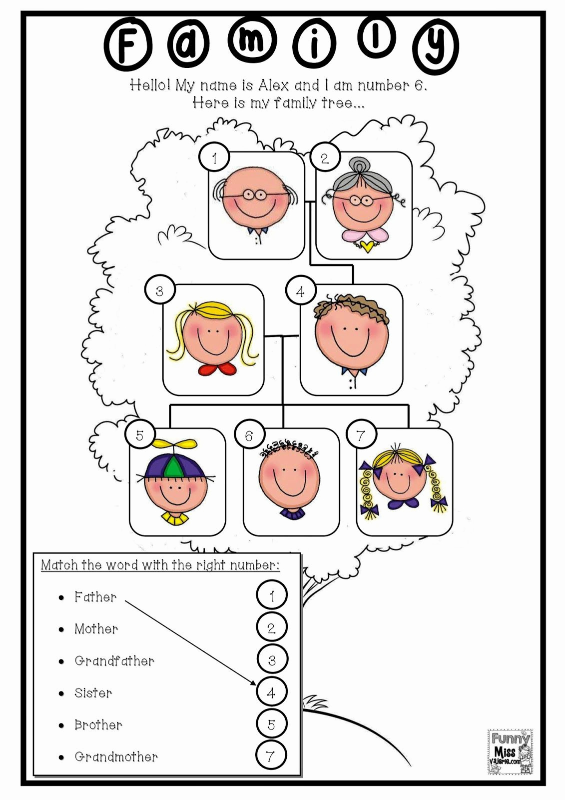 Family Tree Worksheet Printable Unique Resultado De Imagen De Family Members Worksheets for First