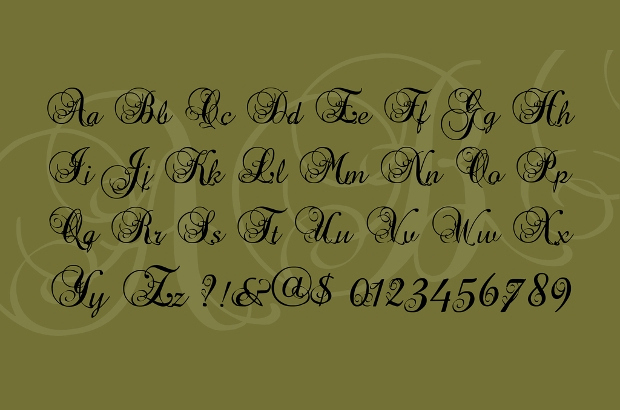 Fancy Cursive Fonts for Tattoos Elegant 25 Calligraphy Fonts Ttf Otf