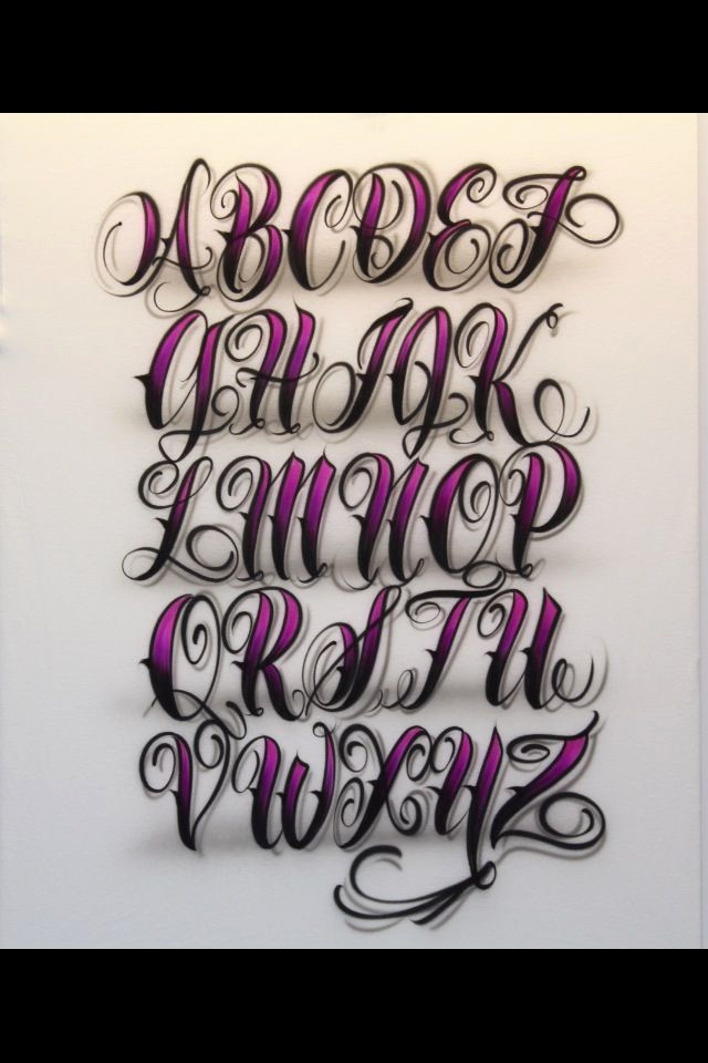 Fancy Cursive Fonts for Tattoos Fresh Airbrush Lettering Font Fancy Script Caps