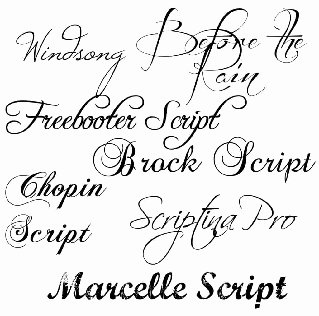 Fancy Cursive Fonts for Tattoos Fresh Personalities and Fonts
