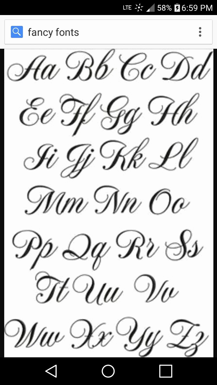 Fancy Cursive Fonts for Tattoos Lovely Fancy Font … Hand Writing