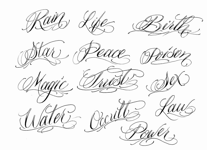 Fancy Cursive Fonts for Tattoos Luxury Fancy Cursive Fonts Alphabet for Tattoos Fancy Cursive