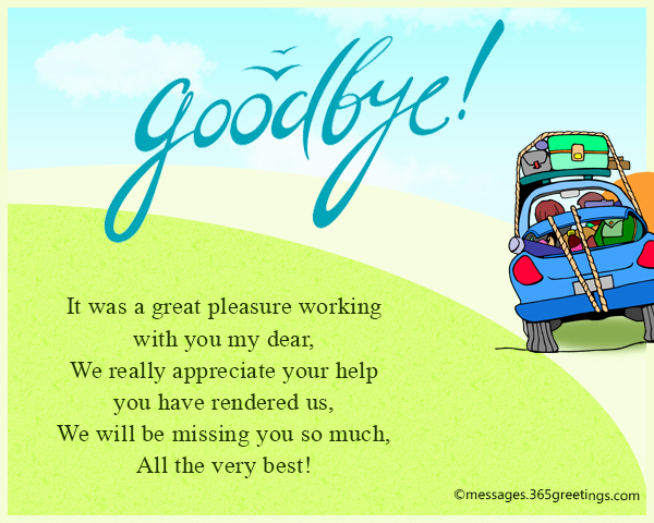 Farewell Letter to Colleagues Lovely Farewell Messages Wishes and Sayings 365greetings