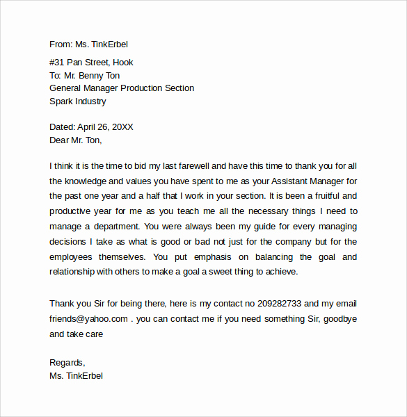 Farewell Letter to Colleagues New 14 Sample Farewell Letters to Co Workers Pdf Word