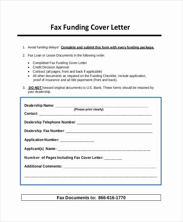Fax Cover Letter Sample Lovely 23 Sample Cover Letters
