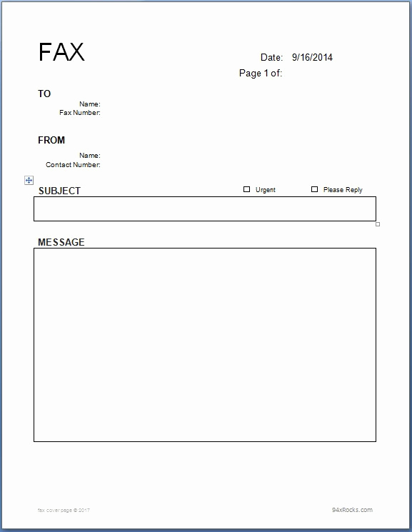 Fax Cover Page Template Fresh [free] Fax Cover Sheet Template