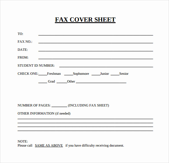 Fax Cover Page Template Inspirational 15 Sample Blank Fax Cover Sheets