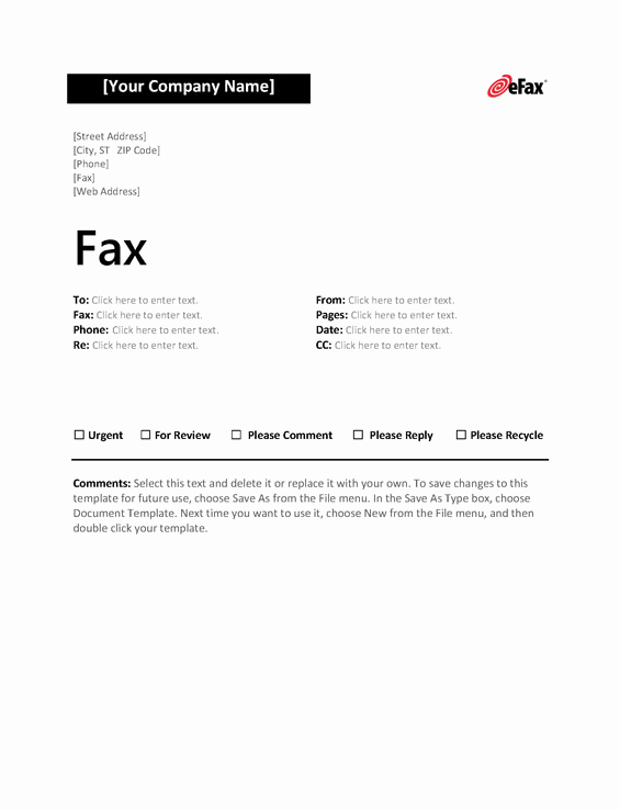 Fax Cover Page Template Unique Use A Custom Fax Cover Sheet with Line Faxing Efax