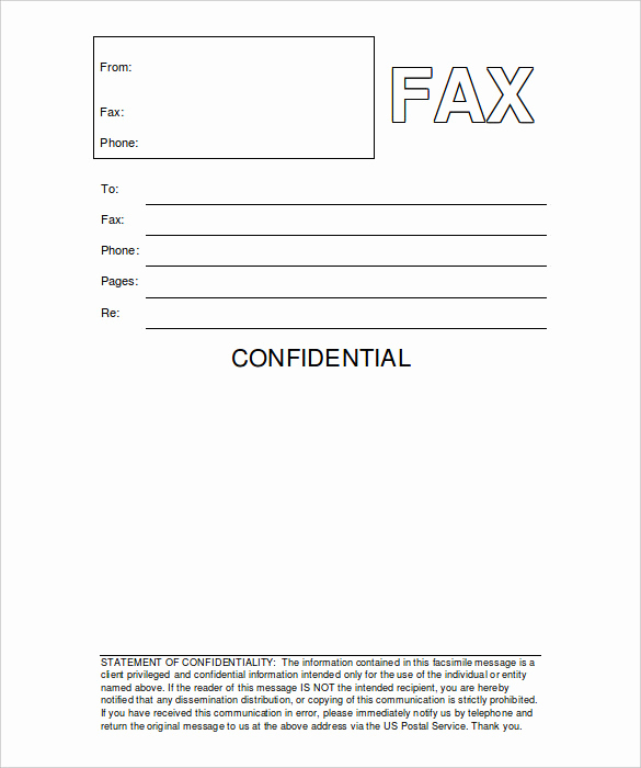 Fax Cover Sheet Confidential Awesome 12 Free Fax Cover Sheet Templates – Free Sample Example
