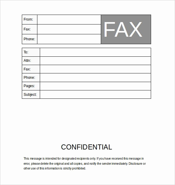 Fax Cover Sheet Confidential Awesome Confidential Fax Cover Sheet Template Microsoft Word