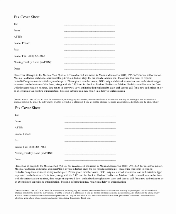 Fax Cover Sheet Confidential Beautiful 7 Sample Confidential Fax Cover Sheets