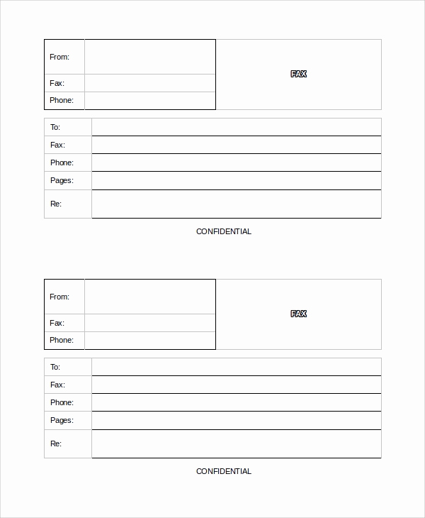 Fax Cover Sheet Confidential Beautiful Sample Blank Fax Cover Sheets 8 Documents In Word Pdf